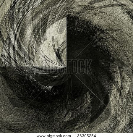 art abstract graphic spherical monochrome grunge background in black, grey and white colors; geometric pattern
