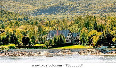 Tudor Mansion on Green Coast of Maine near Bar Harbor