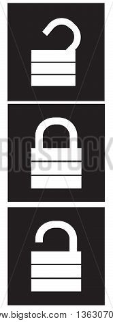 Lock Unlock Icons padlock symbol computer icon technology