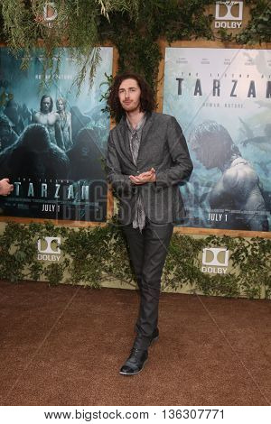 LOS ANGELES - JUN 27:  Andrew Hozier-Byrne, Hozier at The Legend Of Tarzan Premiere at the Dolby Theater on June 27, 2016 in Los Angeles, CA