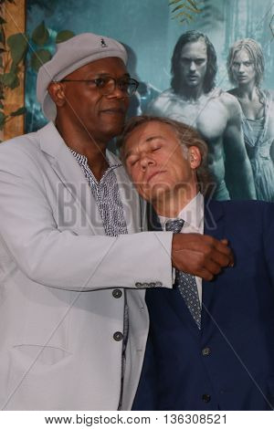 LOS ANGELES - JUN 27:  Samuel L. Jackson, Christoph Waltz at The Legend Of Tarzan Premiere at the Dolby Theater on June 27, 2016 in Los Angeles, CA