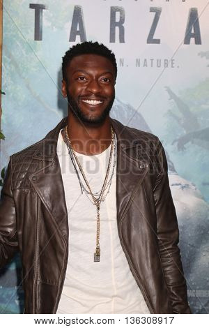 LOS ANGELES - JUN 27:  Aldis Hodge at The Legend Of Tarzan Premiere at the Dolby Theater on June 27, 2016 in Los Angeles, CA