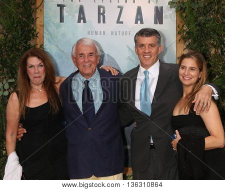 LOS ANGELES - JUN 27:  Wendy Riche, Alan Riche, Peter Riche, Wendy Jacobs-Riche at The Legend Of Tarzan Premiere at the Dolby Theater on June 27, 2016 in Los Angeles, CA