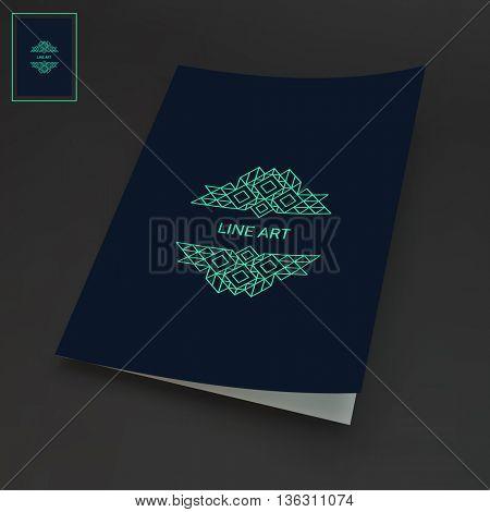 Line Art Design. Calligraphic Linear Element. Vector Illustration.
