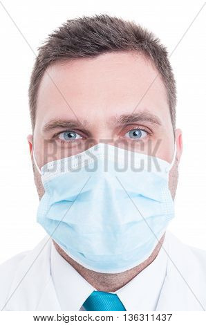 Portrait Of Medic With Surgical Mask On