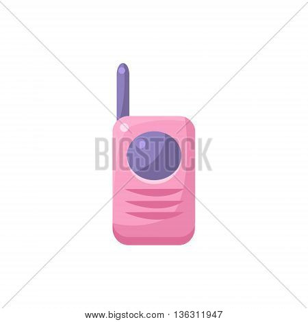 Baby Monitor Walkie Talkie Cute Childish Style Light Color Design Icon Isolated On White Background