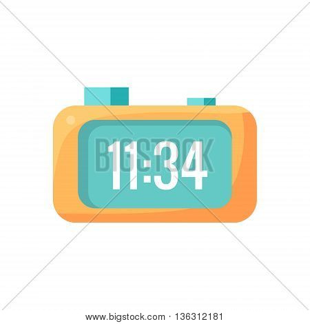 Electronic Alarm Clock Cartoon Design Vector Illustration Isolated On White Background