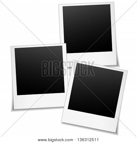 Illustration of vector photos on white background