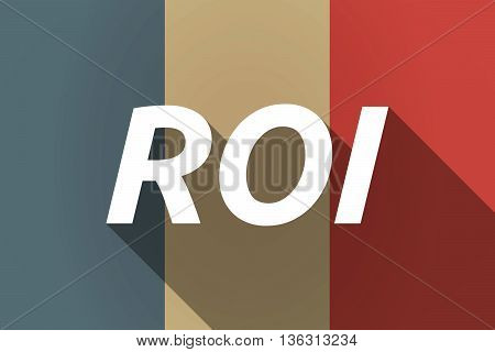 Vector Long Shadow France Flag With    The Return Of Investment Acronym Roi