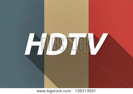 Vector Long Shadow France Flag With    The Text Hdtv