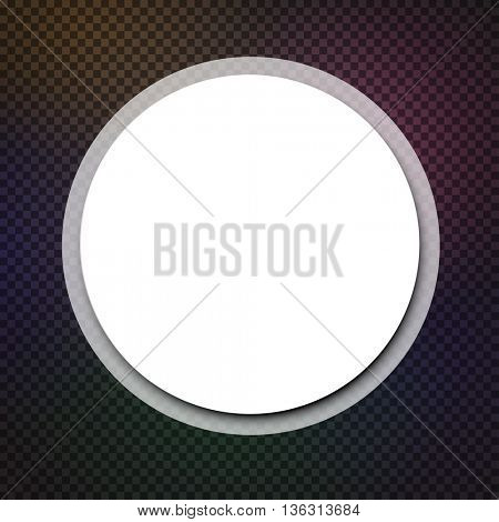 Abstract round background. Vector paper illustration.