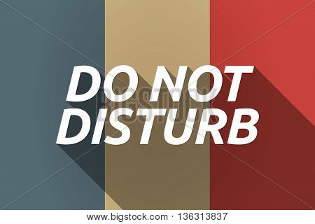 Vector Long Shadow France Flag With    The Text Do Not Disturb