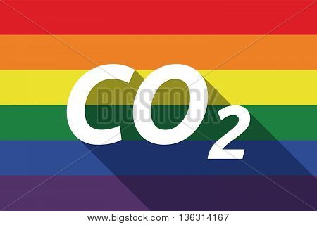 Vector Long Shadow Gay Pride Flag With    The Text Co2