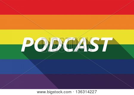Vector Long Shadow Gay Pride Flag With    The Text Podcast