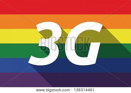Vector Long Shadow Gay Pride Flag With    The Text 3G