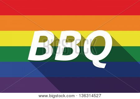 Vector Long Shadow Gay Pride Flag With    The Text B2C