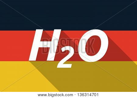 Vector Long Shadow Germany Flag With    The Text H2O