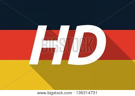 Vector Long Shadow Germany Flag With    The Text Hd