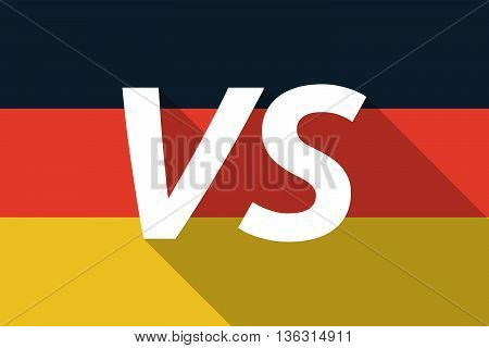 Vector Long Shadow Germany Flag With    The Text Vs
