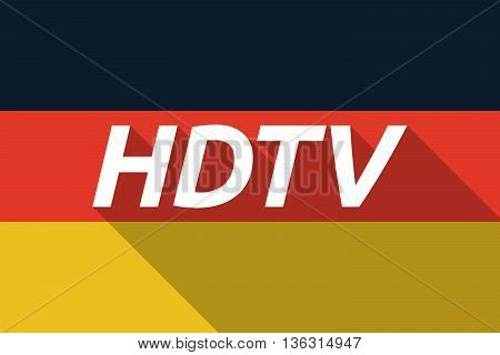 Vector Long Shadow Germany Flag With    The Text Hdtv