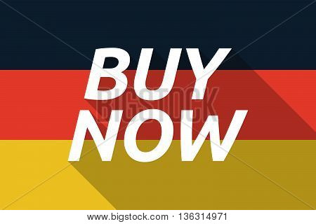Vector Long Shadow Germany Flag With    The Text Buy Now