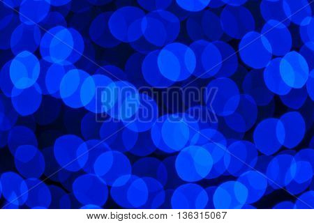Natural blue blur abstract boke background with selective focus
