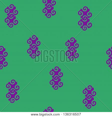 Spiral abstract lilac seamless pattern. Fashion graphic background design. Modern stylish abstract texture. Colorful template for prints textiles wrapping wallpaper website. VECTOR illustration