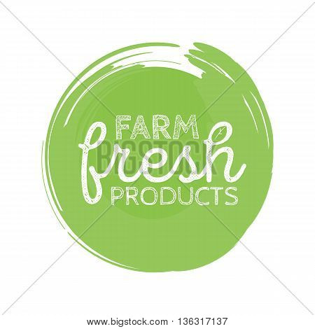 Stamp with text fresh product inside, vector illustration.