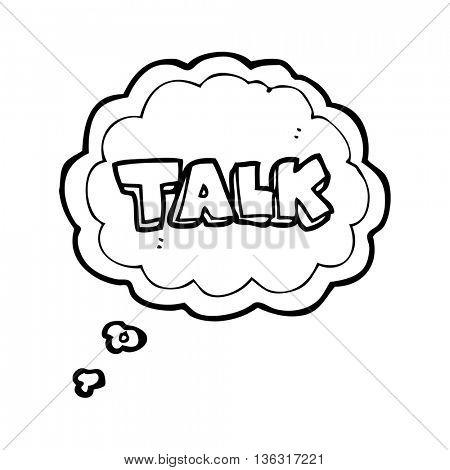 freehand drawn thought bubble cartoon talk symbol
