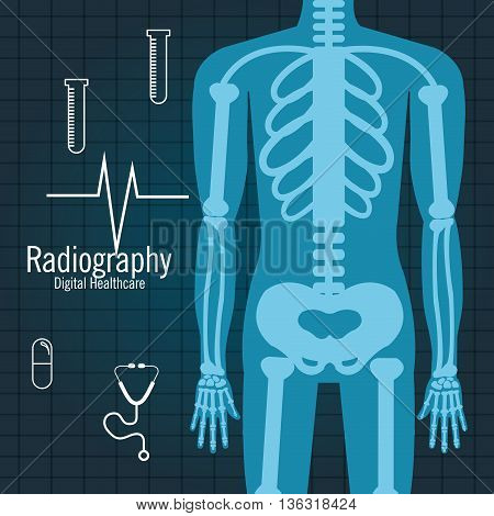 body radiography isolated icon design, vector illustration  graphic