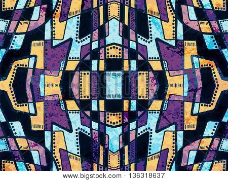 Abstract Background Tribal Ethnic Ornament Purple