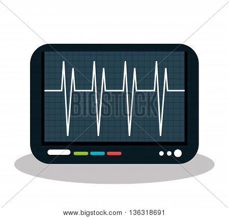 eco heart monitor isolated icon design, vector illustration graphic