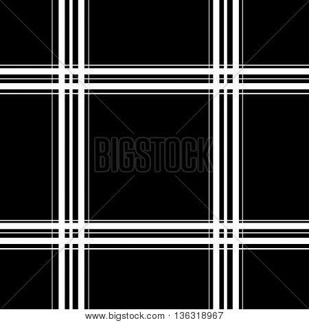 Tartan white seamless pattern. Fashion graphic background design. Modern stylish abstract texture. Monochrome template for prints textiles wrapping wallpaper website. VECTOR illustration