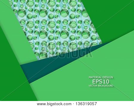 Unusual modern material design vector background over seamless pattern. Seamless geometric shapes. Eps10 vector illustration