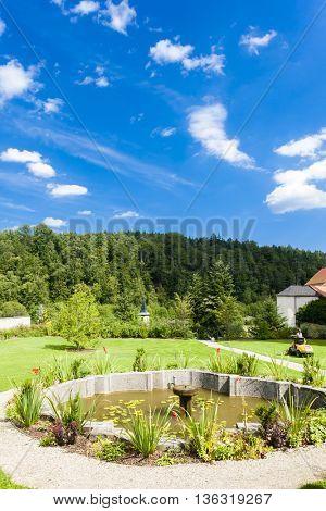garden of cistercian monastery in Zwettl, Lower Austria, Austria