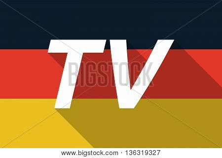 Vector Long Shadow Germany Flag With    The Text Tv
