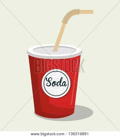 delicious and freshness  soda  isolated icon design, vector illustration  graphic