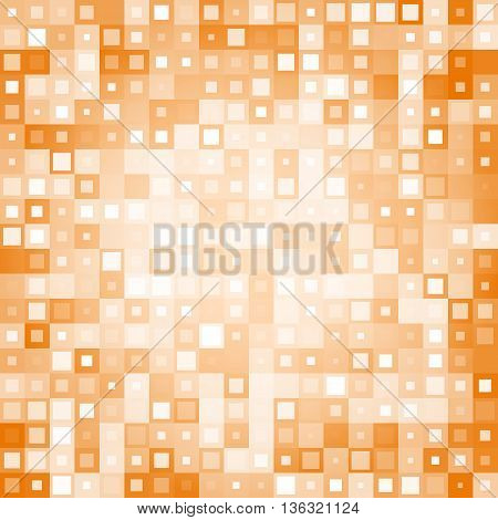 orange Abstract background from different squares. Used for your modern design.