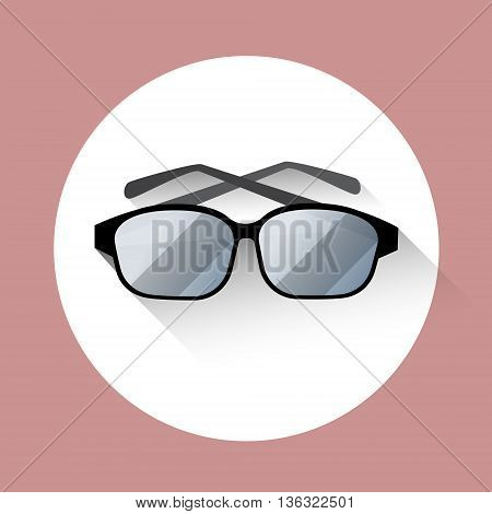 Eye Glasses Eyewear Icon Flat Vector Illustration