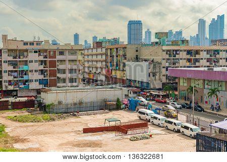 Two Sides Of Panama City, Panama.