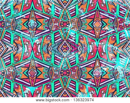 Abstract Background Tribal Geometric Ornament Light