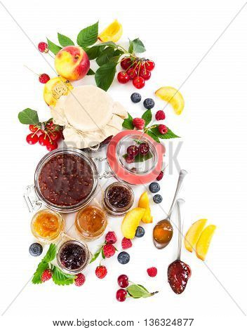 Berry Jam In Glass Jars
