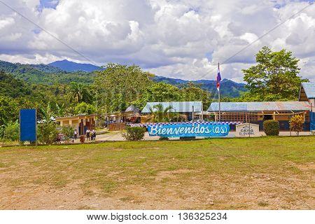 Landscape View Near Santa Fe In Panama.