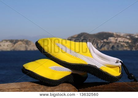 Beach Shoes In The Sun