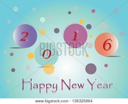 Happy New Year 2016 . Vector illustration