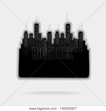 Vector Illustration City and Skyscrapers eps 8 file format