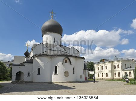 MOSCOW, RUSSIA - JUNE 23, 2016: Marfo-Mariinsky Convent of Mercy in Bolshaya Ordynka stauropegic convent of the Russian Orthodox Church founded in 1909 the object of cultural heritage