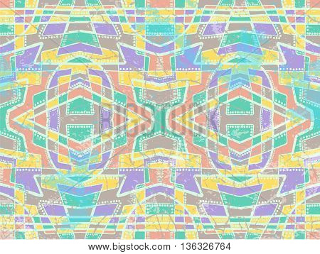 Ethnic Abstract Background Tribal Ornament Light