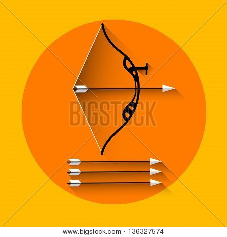 Archery Arrow Equipment Sport Icon Flat Vector Illustration
