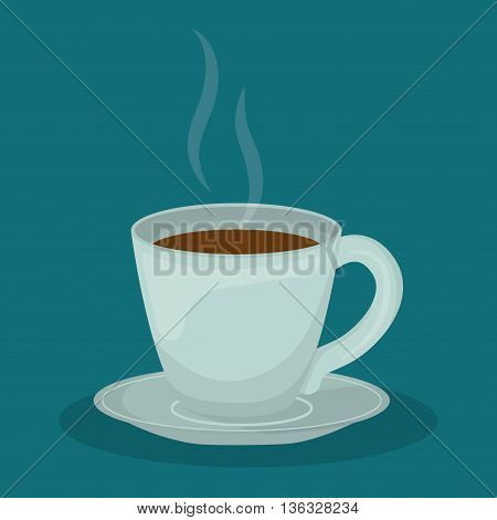 Coffee time oncept represented by coffee mug icon. Property of colorfull illustration